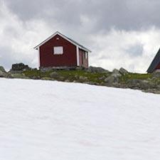 Tussen Aurland en ærdalsøyri, Noorwegen